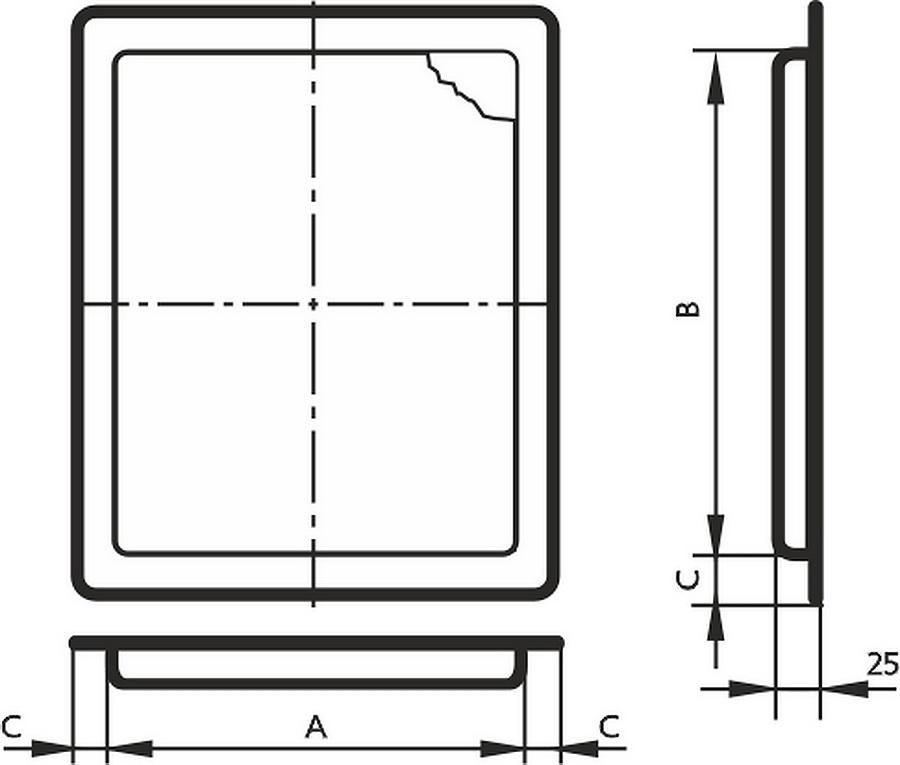 Люк дверца ревизионная размеры